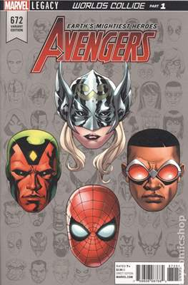 The Avengers Vol. 7 (2016-...Variant Covers ) (Grapa) #672.4