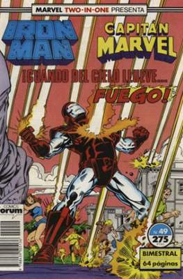 Iron Man Vol. 1 / Marvel Two-in-One: Iron Man & Capitán Marvel (1985-1991) (Grapa, 36-64 pp) #49