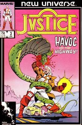Justice. New Universe (1986) #3