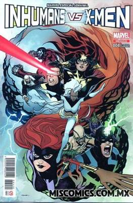Inhumans vs. X-Men (Portada variante) (Grapa) #4.1