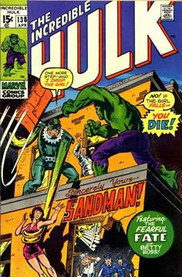 The Incredible Hulk Vol.1 (Saddle-stitched. 1962-1999) #138