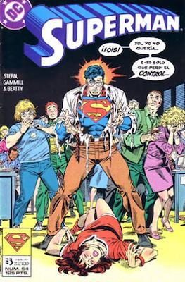 Superman Vol. 2 (1987-1993). El hombre de acero / Superman (Grapa 36 pp) #54