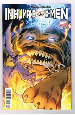 Inhumans vs. X-Men (Portada variante) (Grapa) #0