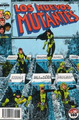 Los Nuevos Mutantes Vol. 1 (1986-1990) (Grapa 32-64 pp) #38