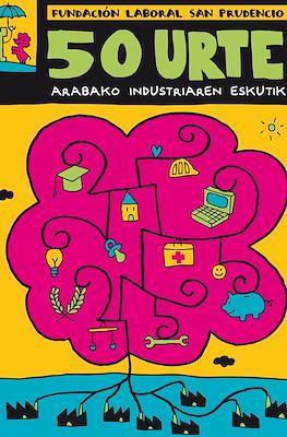 Fundación laboral San Prudencio 50 urte arabako industriaren eskutik (Cartoné y grapa) #