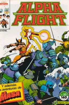 Alpha Flight Vol. 1 / Marvel Two-in-one: Alpha Flight & La Masa Vol.1 (1985-1992) (Grapa 32-64 pp) #33