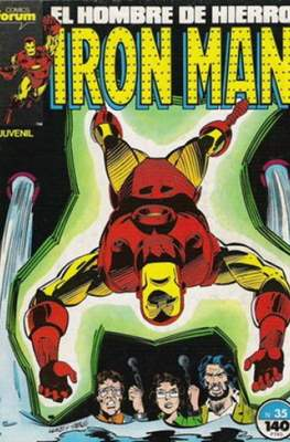 Iron Man Vol. 1 / Marvel Two-in-One: Iron Man & Capitán Marvel (1985-1991) (Grapa, 36-64 pp) #35