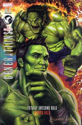 Generations - The Strongest Banner Hulk and Totally Awesome Hulk (Variant Cover) #1.7
