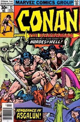 Conan The Barbarian (1970-1993) (Comic Book 32 pp) #72