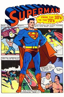 Superman from the 30's to the 70's
